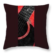 Diptych Wall Art - Macro - Red Section 2 Of 2 - Giants Colors Music - Abstract Throw Pillow