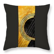 Diptych Wall Art - Macro - Gold Section 1 Of 2 - Vikings Colors - Music - Abstract Throw Pillow