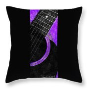 Diptych Wall Art - Macro - Purple Section 2 Of 2 - Vikings Colors - Music - Abstract Throw Pillow