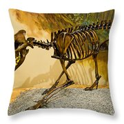 Dire Wolf Fossil Throw Pillow