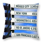 Direction Signs Throw Pillow