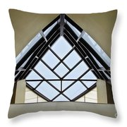 Directional Symmetry Throw Pillow by Charles Dobbs