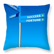 Directions To Goals Throw Pillow