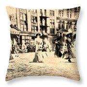 Directoire Gown - Philadelphia Mummers 1909 Throw Pillow