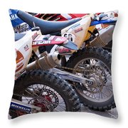 Dirt Bikes Throw Pillow by Rick Piper Photography