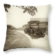 Dirt Drive Throw Pillow