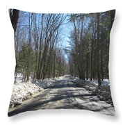 Dirt Road In March Throw Pillow
