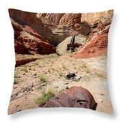 Dirty Devil Mine San Rafael Swell - Utah Throw Pillow