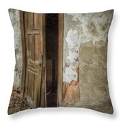 Dirty Door Throw Pillow