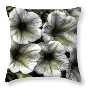 Dirty Flowers 2 Throw Pillow