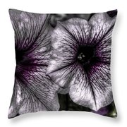 Dirty Flowers 4 Throw Pillow