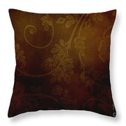 Dirty Flowers Backdrop Throw Pillow