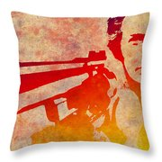 Dirty Harry - 4 Throw Pillow