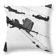 Dirty Laundry 3 Throw Pillow