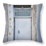 Dirty Metal Door Throw Pillow