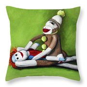 Dirty Socks Throw Pillow by Leah Saulnier The Painting Maniac