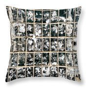 Dirty Wall Of Tiles And Paper Texture Throw Pillow