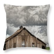 Disappearing America Throw Pillow