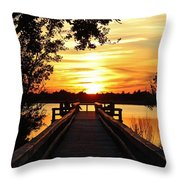 Disappearing Sun  Throw Pillow