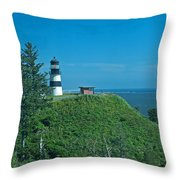 Disappointment Lighthouse In Washington State Throw Pillow