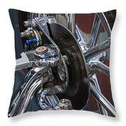 Disc Brakes Hot Rod Throw Pillow