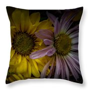Discarded Bouquet Throw Pillow