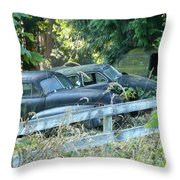 Discarded History Throw Pillow