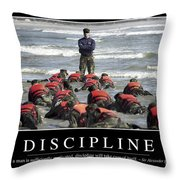 Discipline Inspirational Quote Throw Pillow