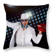 Disco Dj Throw Pillow