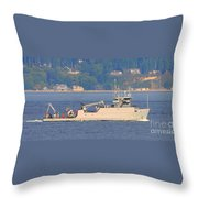 Discovery Bay Military Ops Ship Throw Pillow
