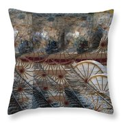 Discovery Of The Wheel Throw Pillow