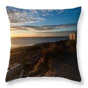 Discovery Park Lighthouse Sunset Throw Pillow