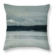 Discovery Passage Fog Rising Throw Pillow