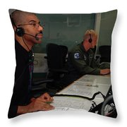 Discovery Space Shuttle Control Room Throw Pillow