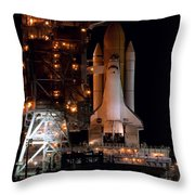 Discovery Space Shuttle Throw Pillow