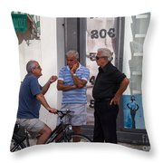 Discussing It In Maiori Italy Throw Pillow