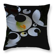 Disgruntled Lilly Throw Pillow