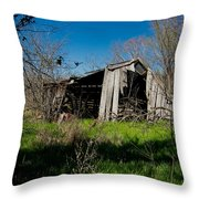 Disintegrating Barn Streetman Texas Throw Pillow