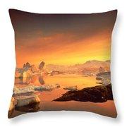 Disko Bay, Greenland Throw Pillow