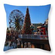 Disney California Adventure Christmas Throw Pillow