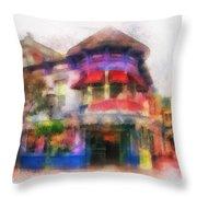 Disney Clothiers Main Street Disneyland Photo Art 01 Throw Pillow