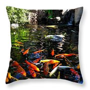 Disney Epcot Japanese Koi Pond Throw Pillow