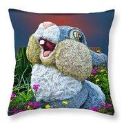 Disney Floral 05 Thumper Blue Throw Pillow