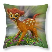 Disney Floral Bambi Throw Pillow