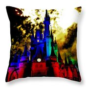 Disney Night Fireworks Throw Pillow