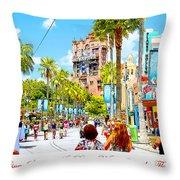 Disney Studios Walt Disney World Orlando Florida Throw Pillow