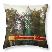Disneyland Downtown Disney Signage 01 Throw Pillow