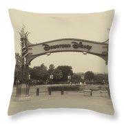 Disneyland Downtown Disney Signage 02 Heirloom Throw Pillow