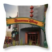 Disneyland Downtown Disney Signage 03 Throw Pillow