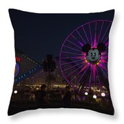 Disneyland Ferris Wheel At Dark Throw Pillow